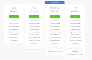 select website plan bluehost