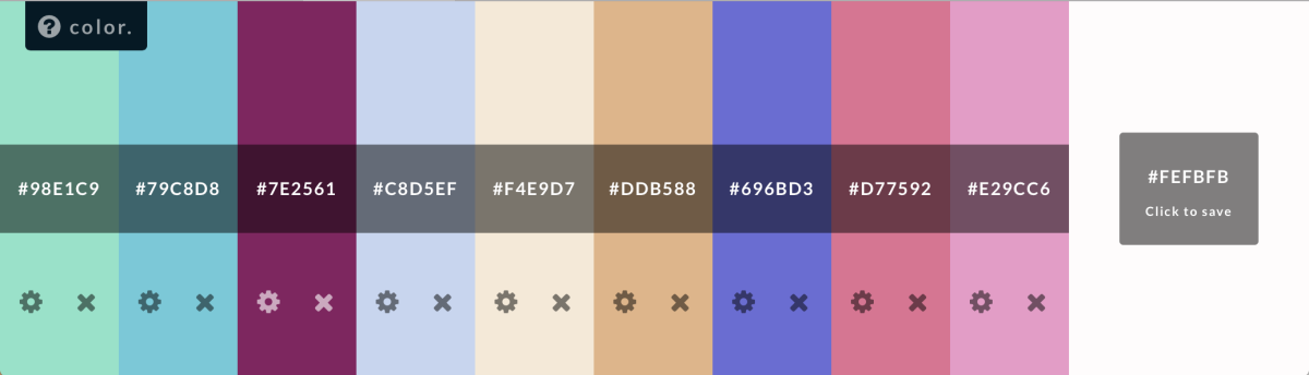 The minimalist, easy color palette designer by Hailpixel