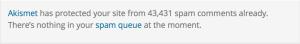 akismet so much spam