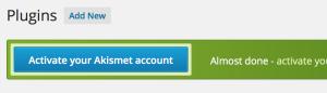 Akismet comment spam registration