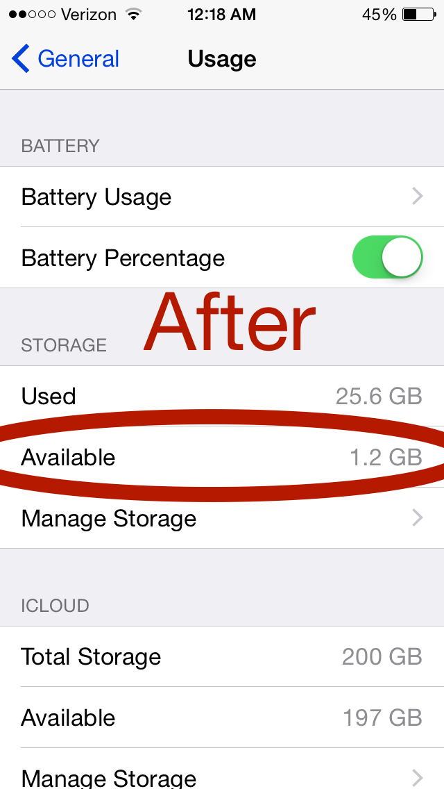 how to clear space on iphone storage
