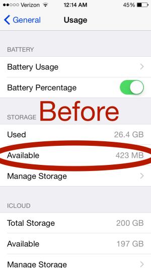 iphone storage more