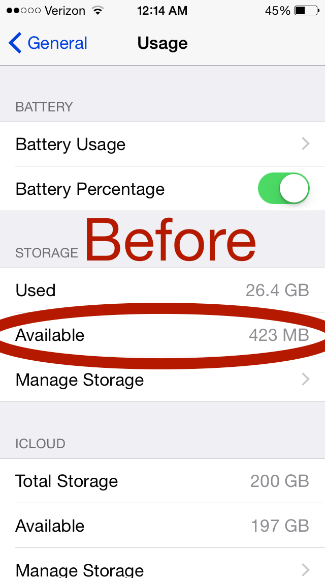 Iphone Storage More
