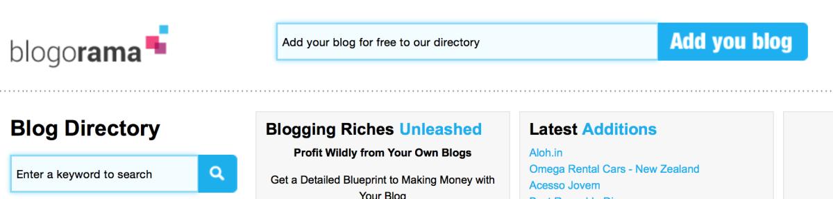 blogarama submit your blog free