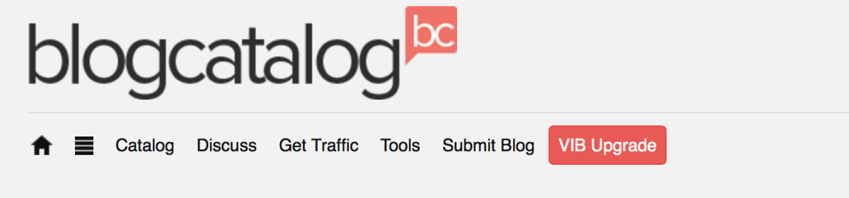 a picture of the blogcatalog home