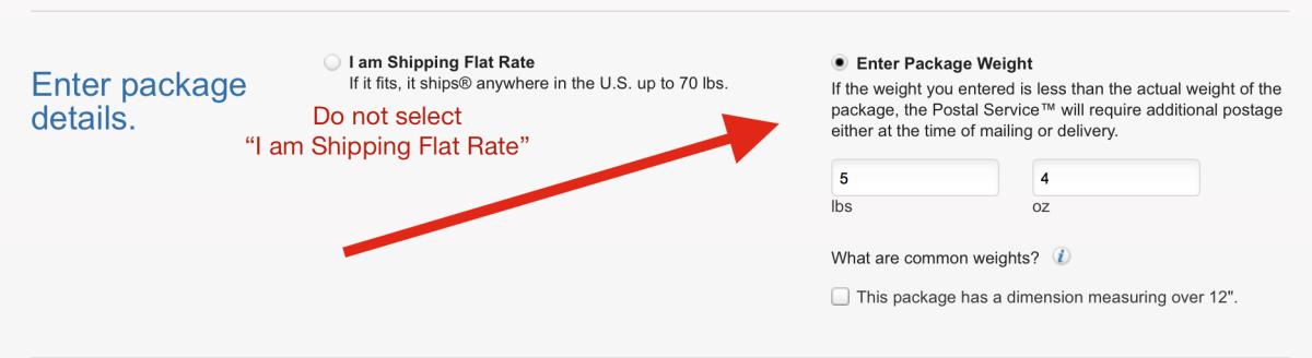 priority regional flat rate envelope step 1