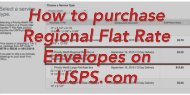 purchase regional flat rate envelopes on usps.com method