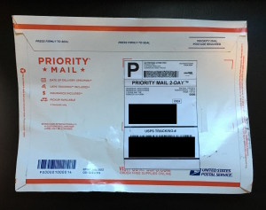 package from the scammer