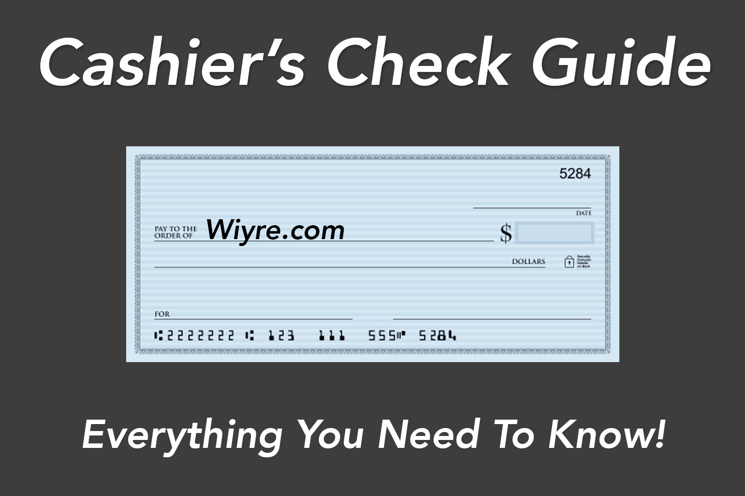 Usaa Cashiers Check >> Cashier S Check Guide What It S Used For How To Get One Wiyre