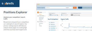 ahrefs position explorer and other SEO tools