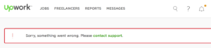 UpWork contact support