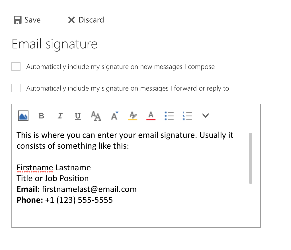 An example simple signature