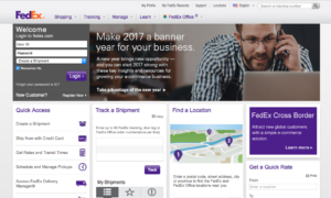 FedEx Homepage - United States Versino