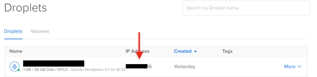 digitalocean IP address location