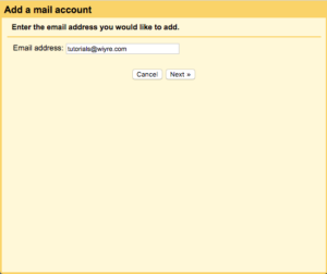 enter full email account