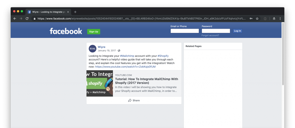 How to embed Facebook posts, videos and photos on WordPress | Wiyre